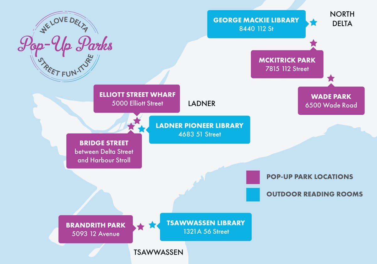 Pop-Up Park & Outdoor Reading Room Map
