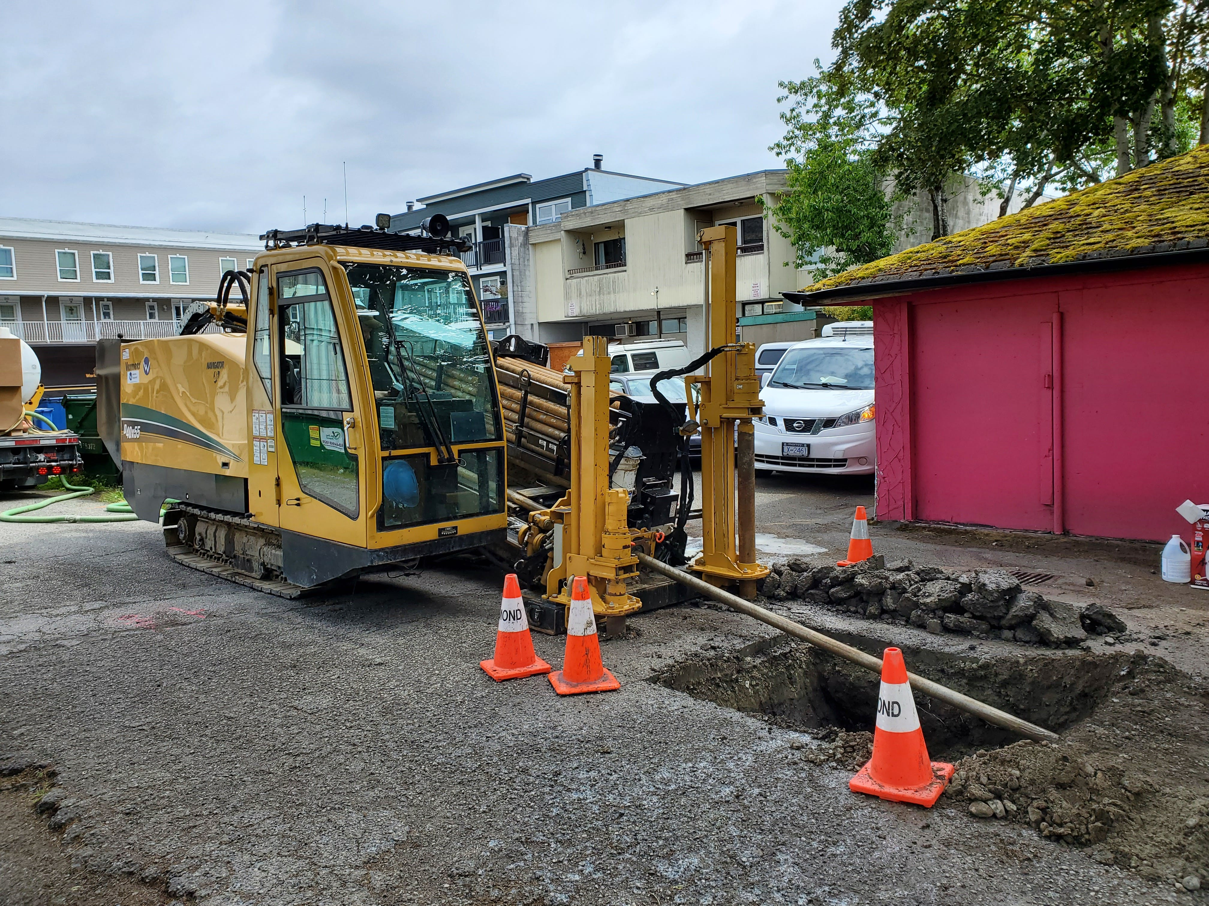 Directional drill used in trenchless construction