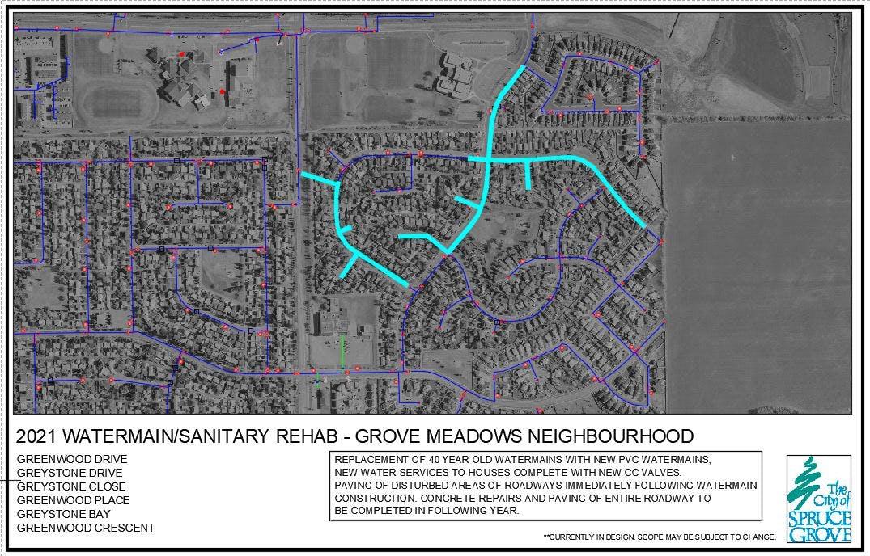 Watermain  Sanitary Rehab – Grove Meadows Neighbourhood
