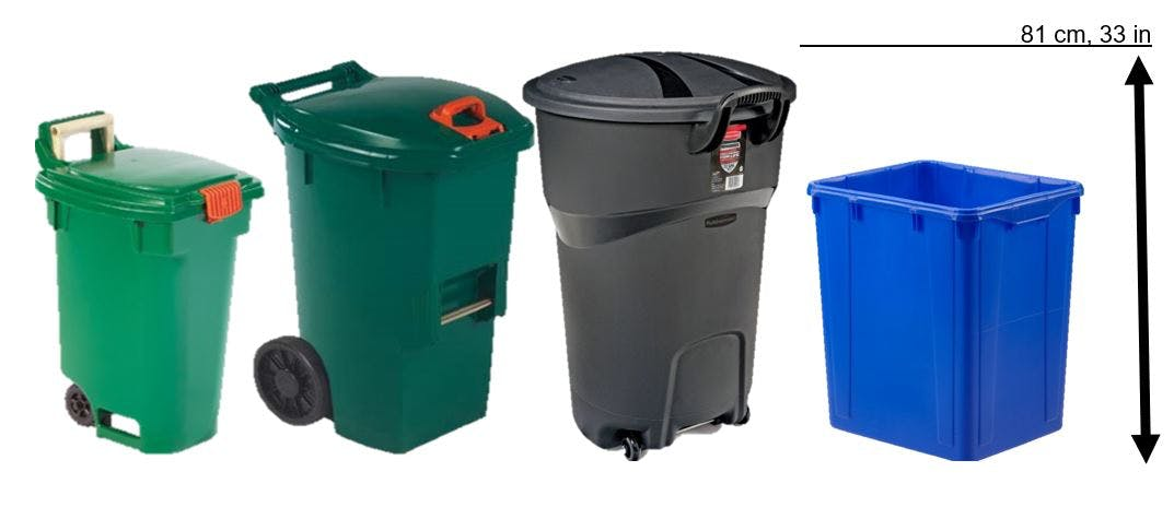 Green Bin container sizes