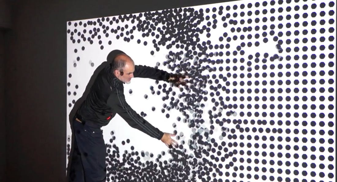 Interactive wall with Kinect, Biopus Argentina, screengrab from vimeo video.png
