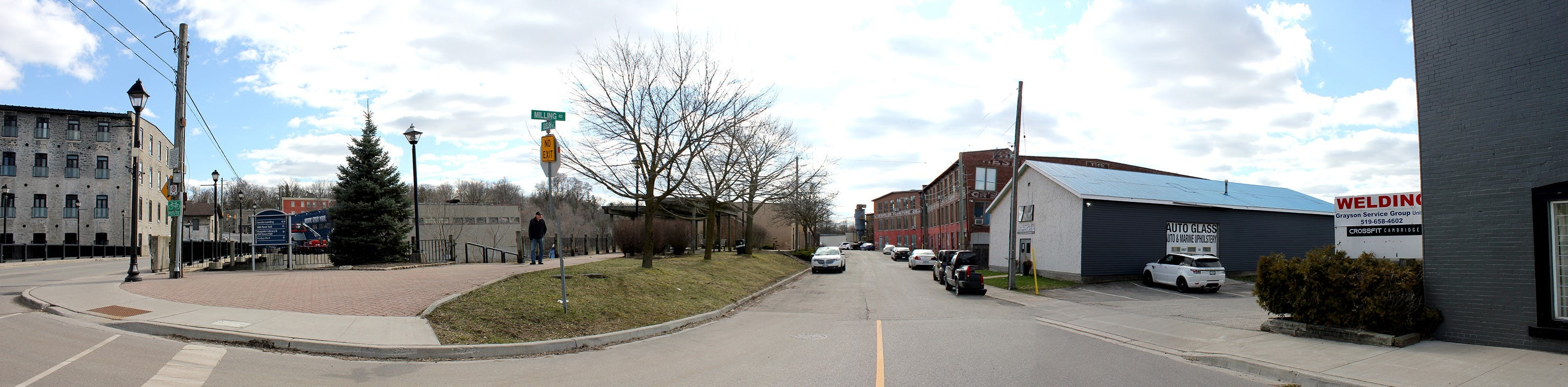 View looking southwest down Milling Road at Guelph Ave