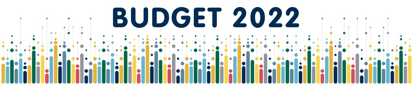 Graphic with text New Westminster Budget 2021 Financial Plan Community Consultation