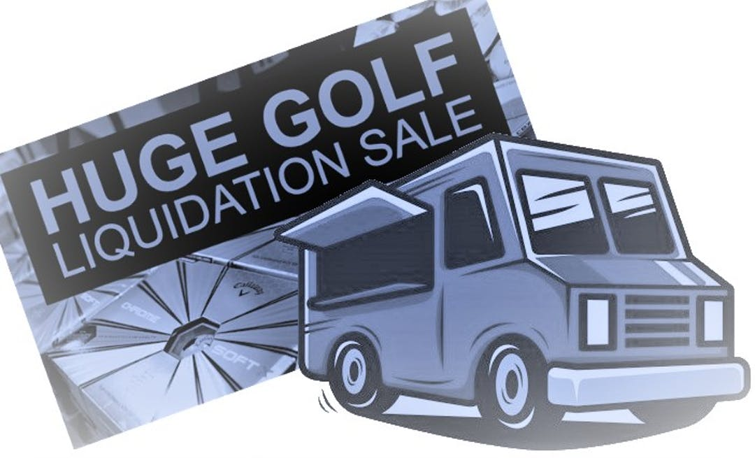 A graphic of a food truck and liquidation sale
