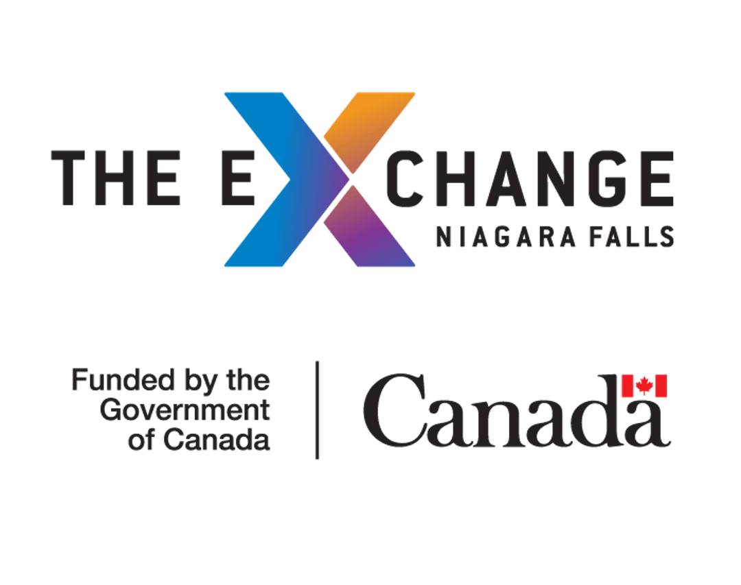 The Exchange Niagara Falls and Government of Canada logos