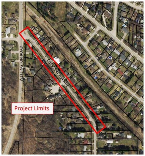 Lynhurst Road Road Improvement Location Map.PNG