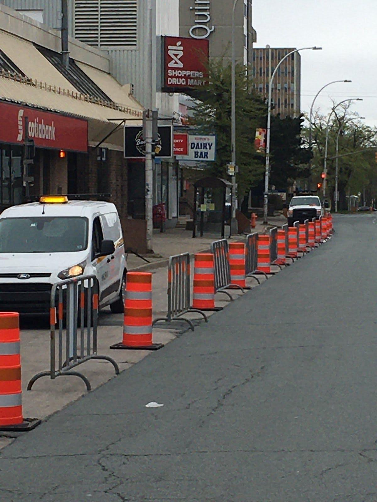 Sidewalk extension on Quinpool