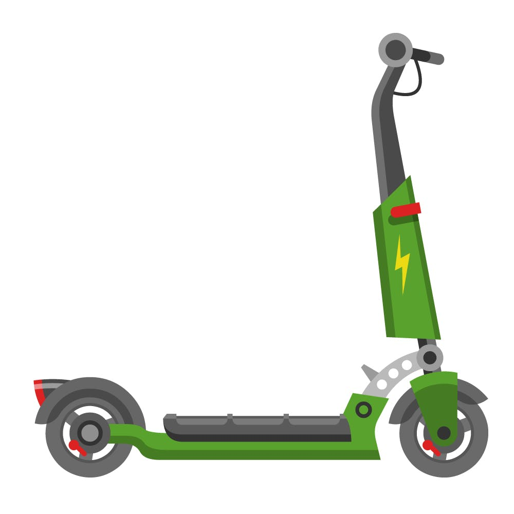 Example e-scooter (typical design)