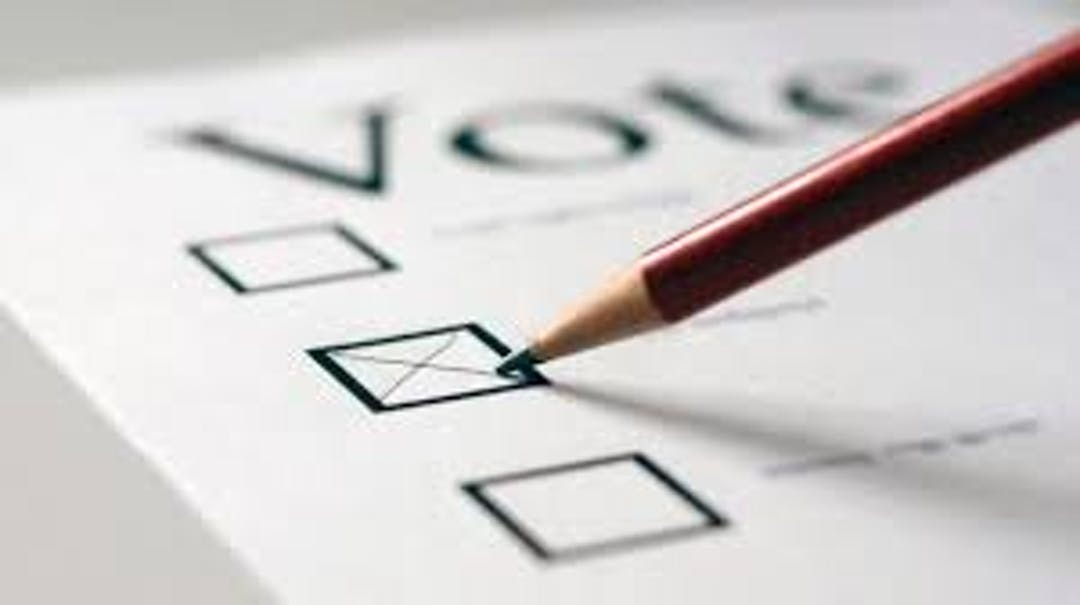 Marking a choice of candidate on a ballot