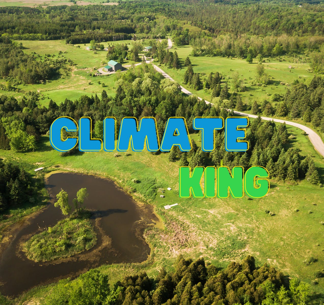 Aerial view of Cold Creek Conservation Area, Climate King