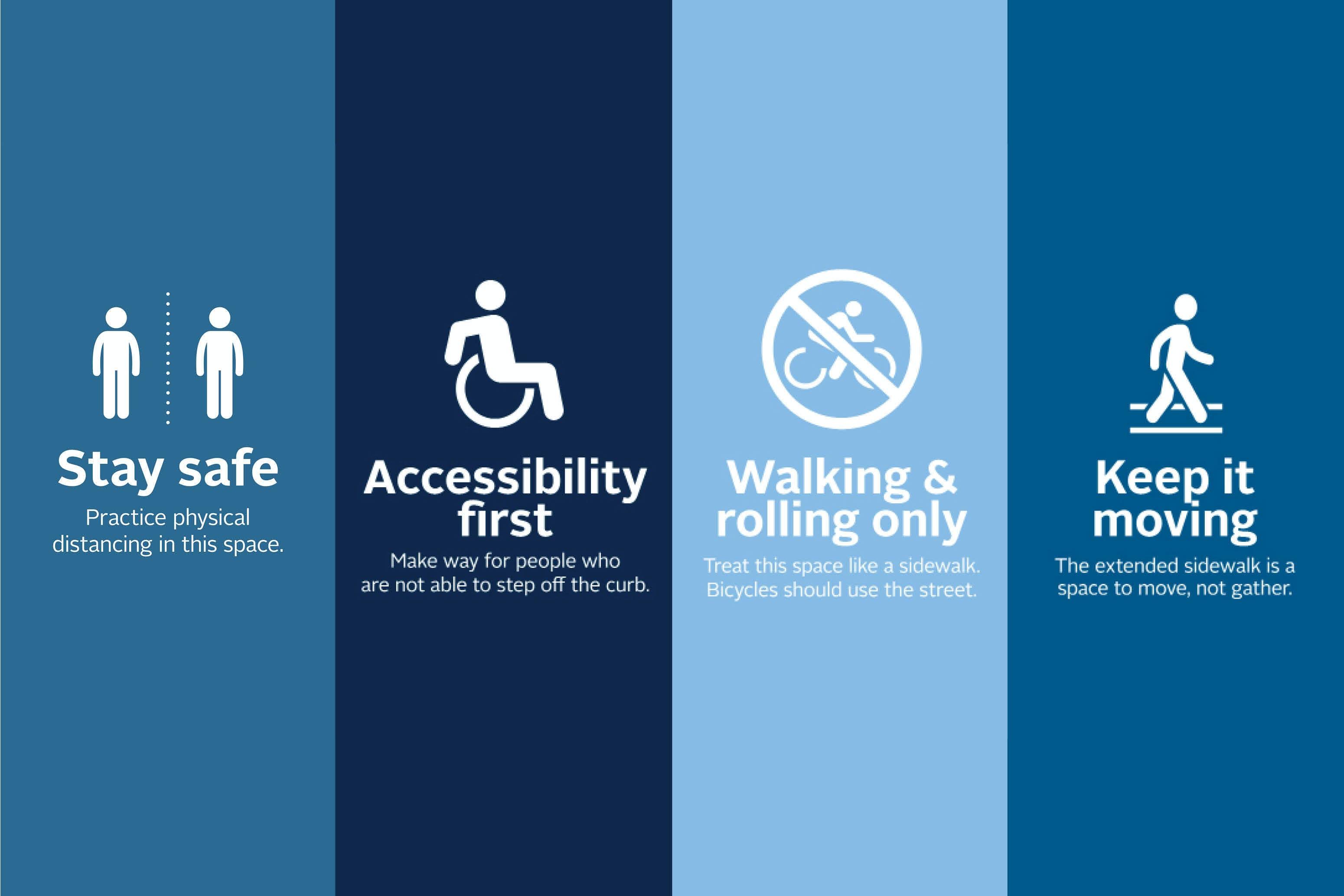 Safe spaces signage