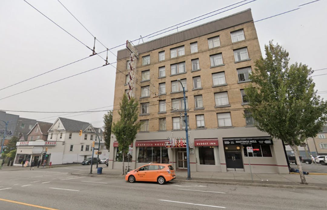 The Patricia Hotel on 403 East Hastings.