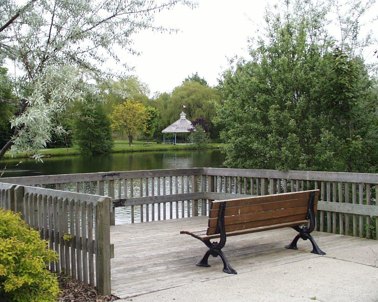 Watson Mill Pond downtown Ayr