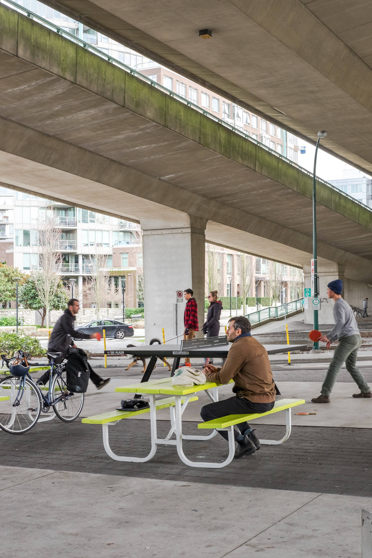 Cambie Bridge South & False Creek Neighbourhood Energy Utility Rain-Friendly Plaza