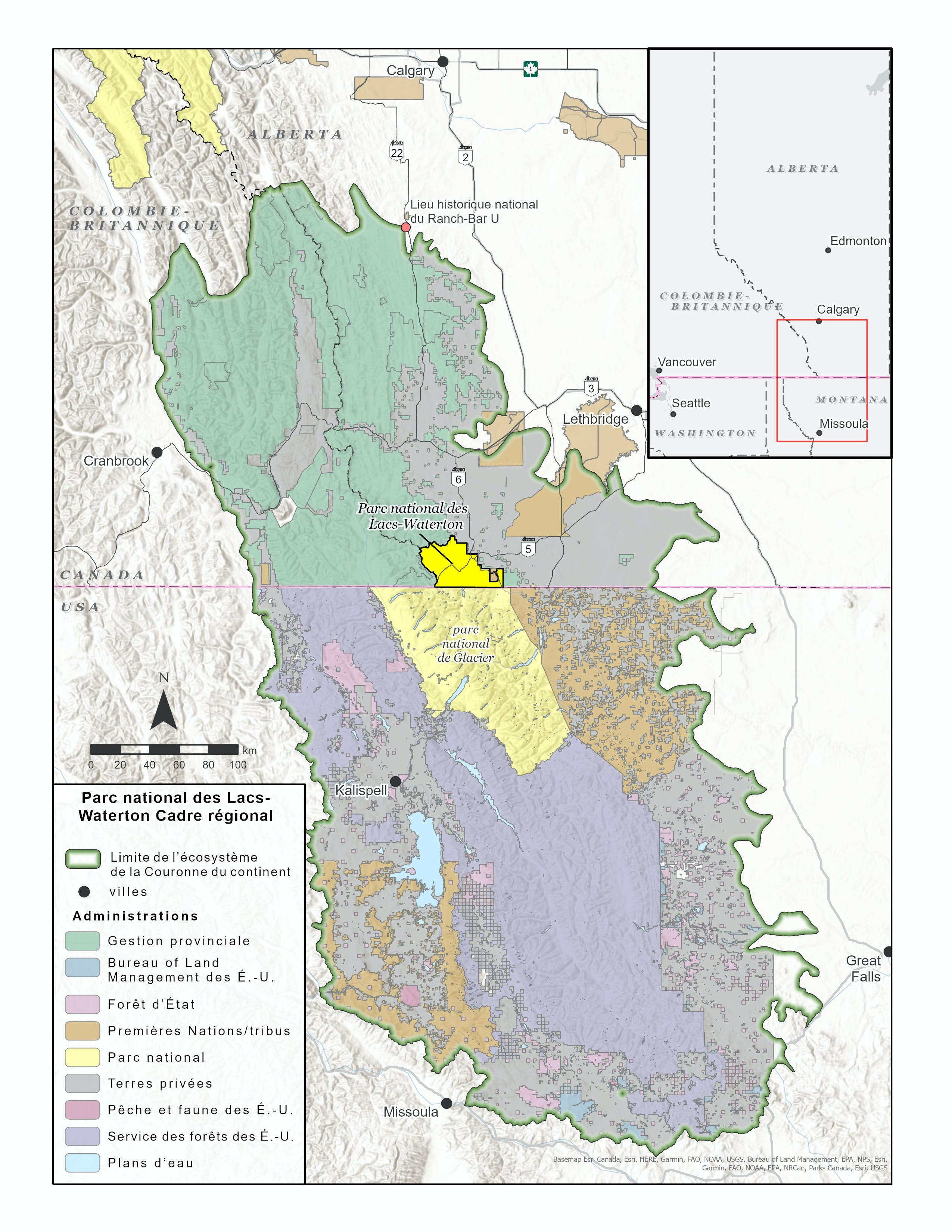 Parc national des Lacs-Waterton Cadre régional