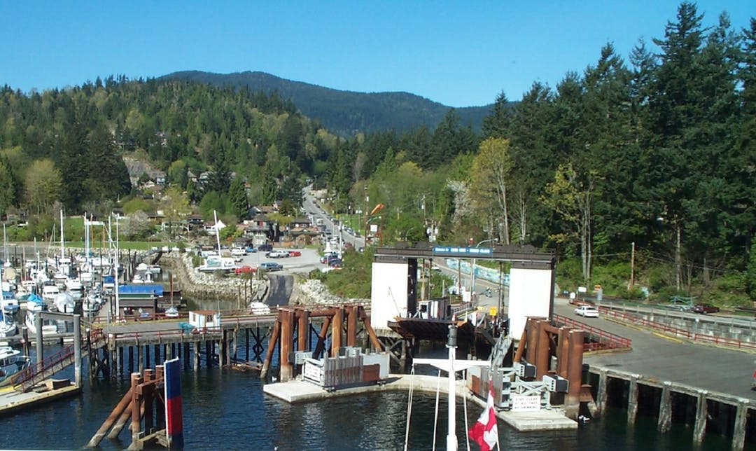 View of Snug Cove from the ferry