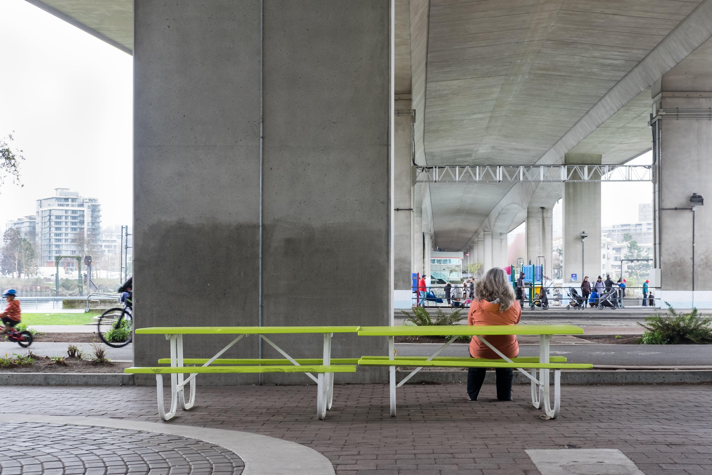 Cambie Bridge North Rain-Friendly Plaza