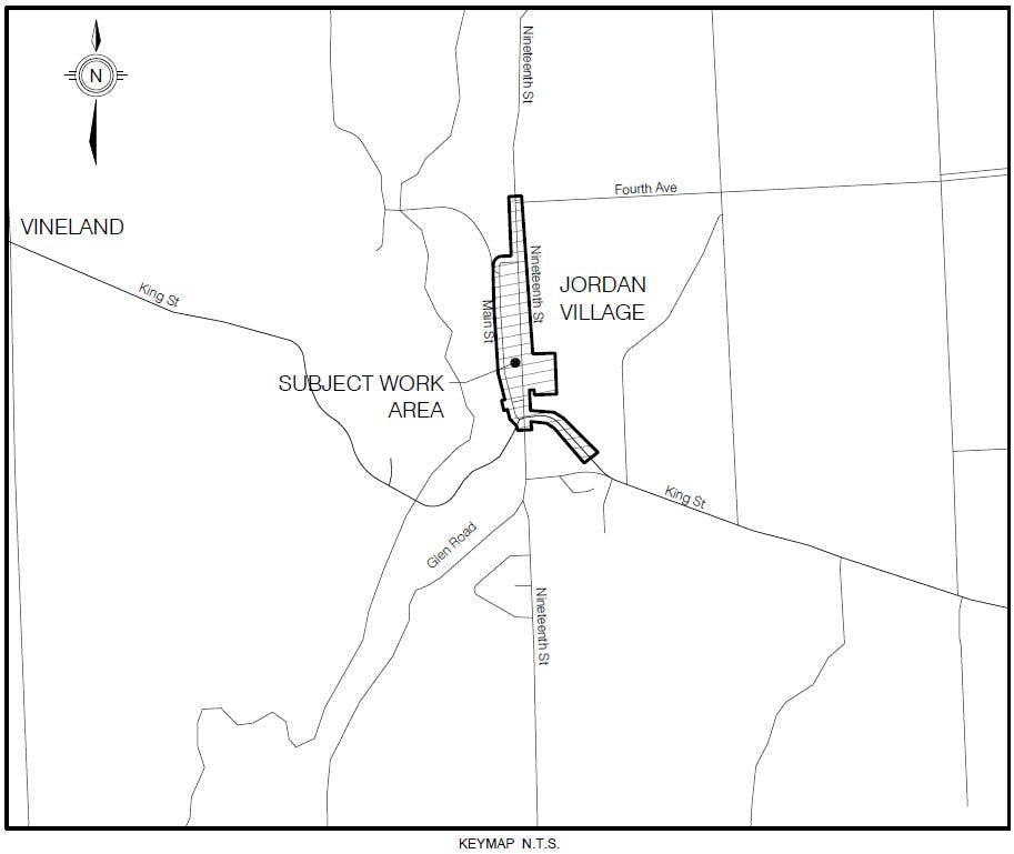 Jordan Village Improvement Project - Area of work