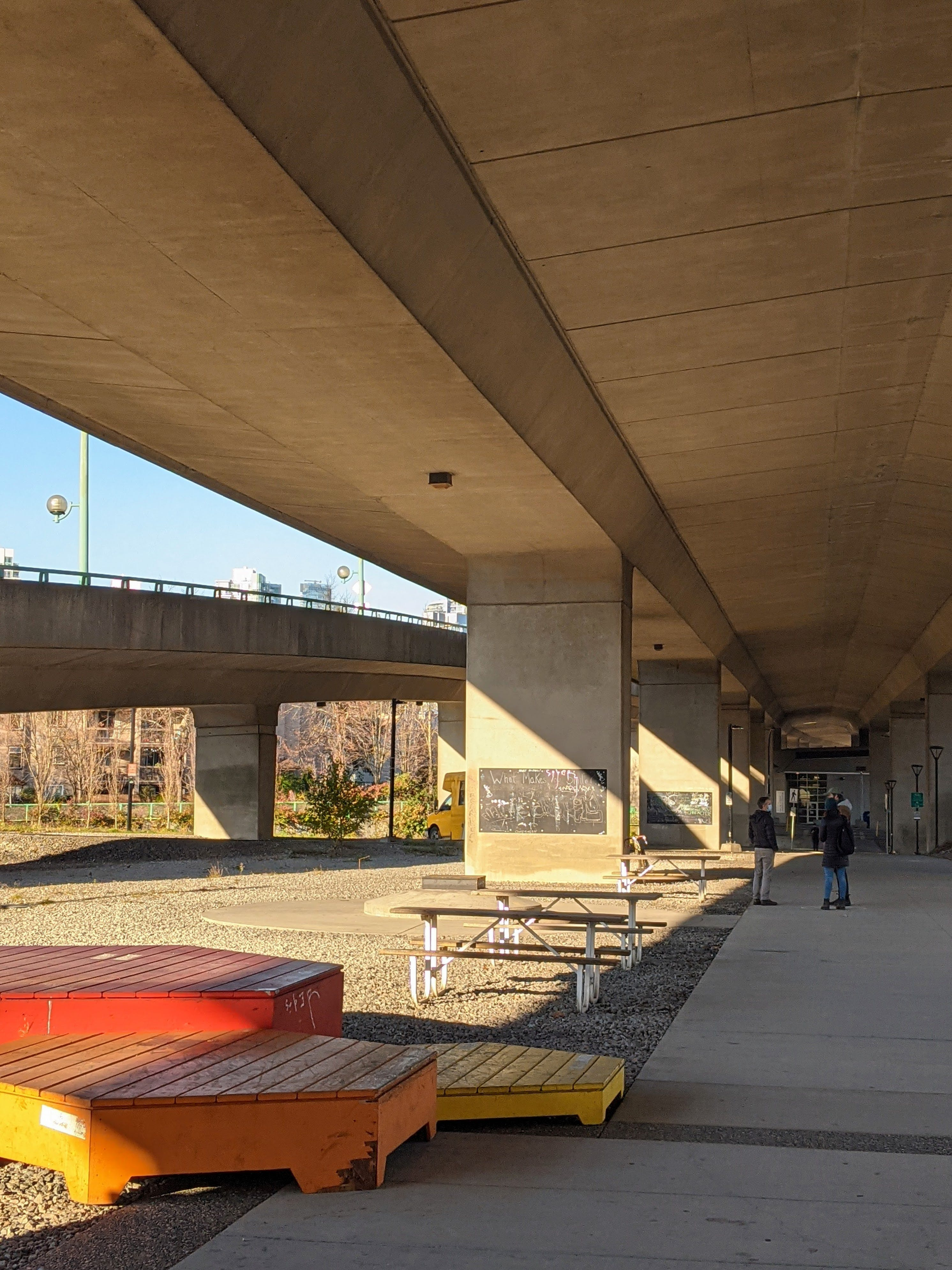 Cambie Bridge South & W 1st Ave Rain-Friendly Plaza