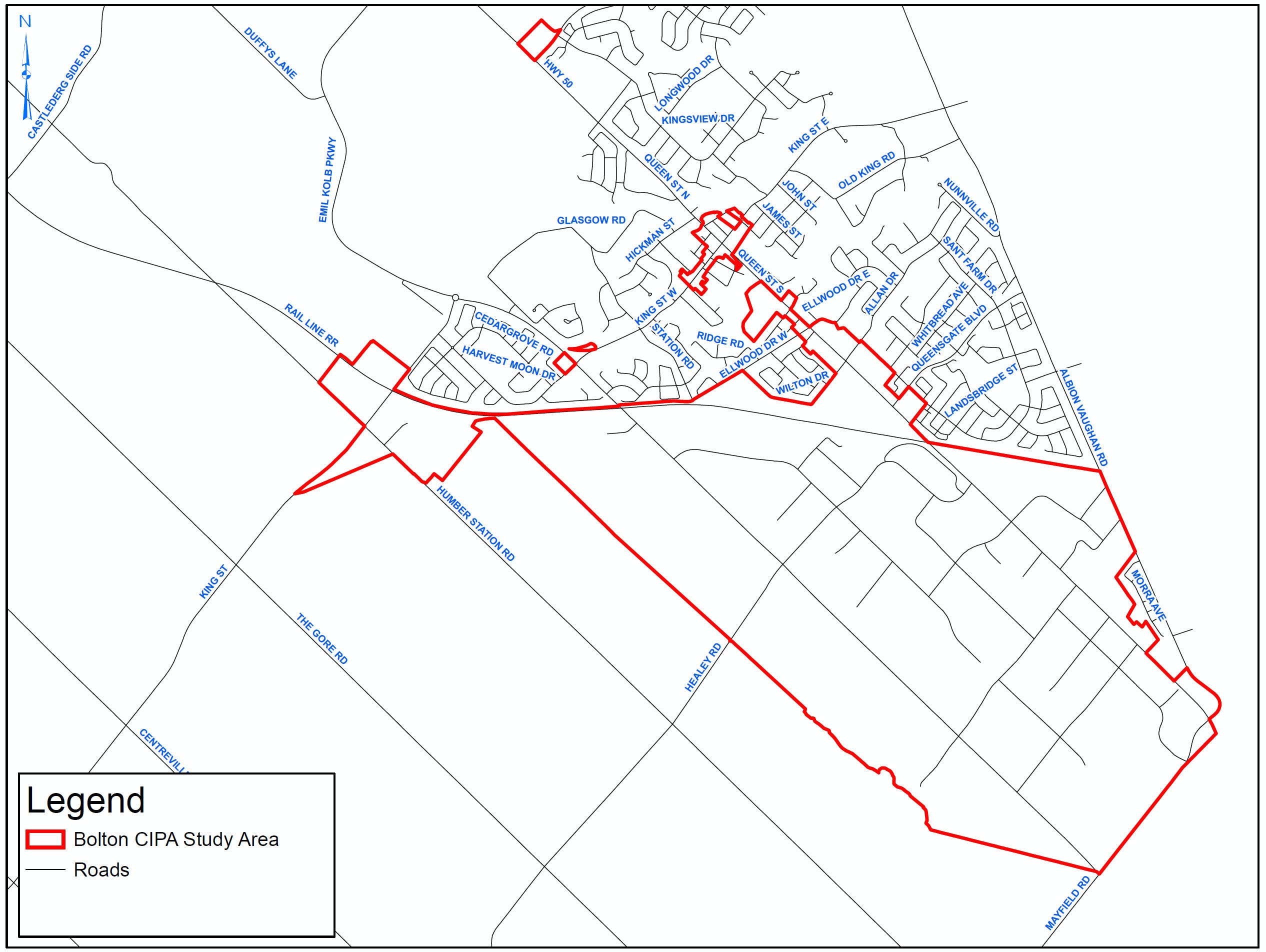 Map - Bolton CIP Study Area
