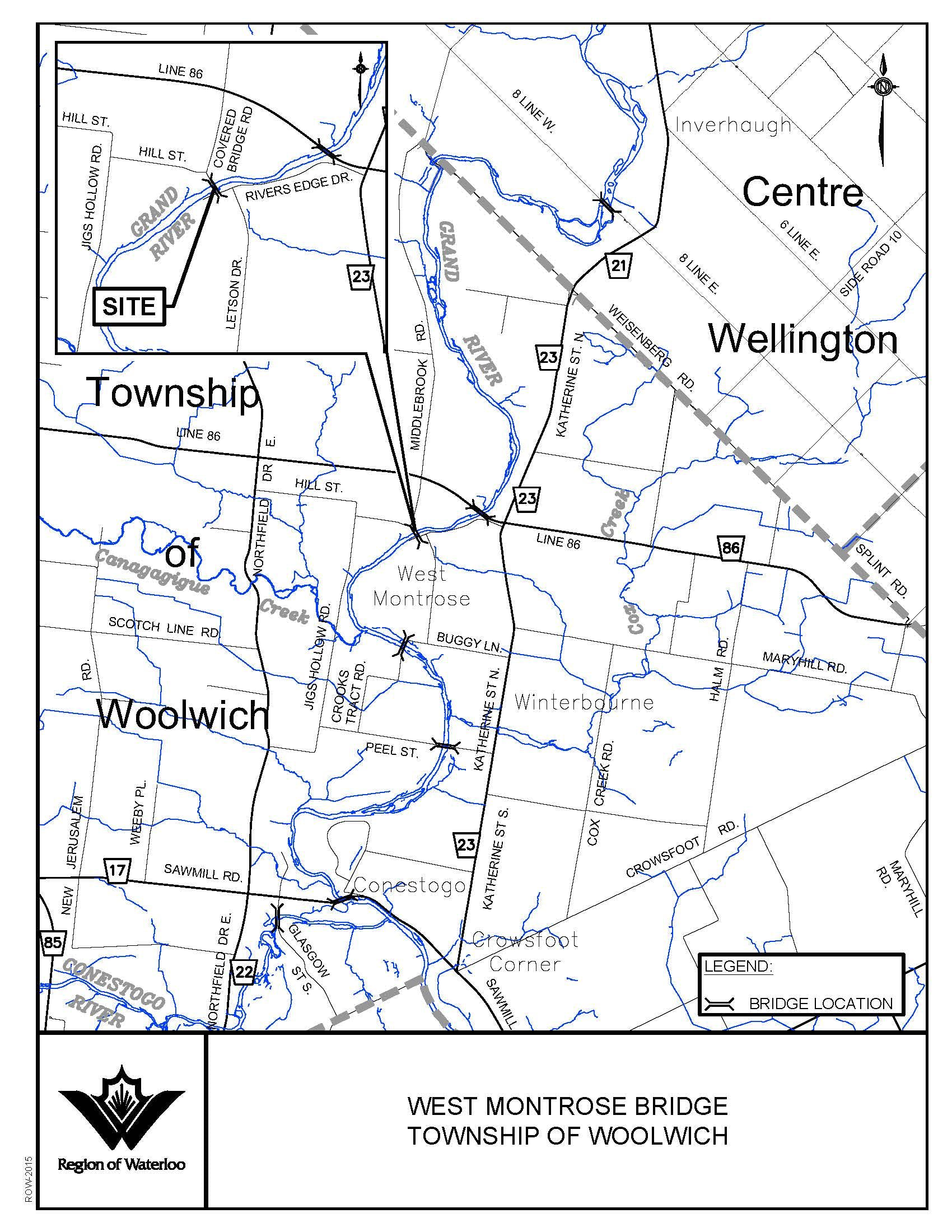 West Montrose Bridge - Key Plan