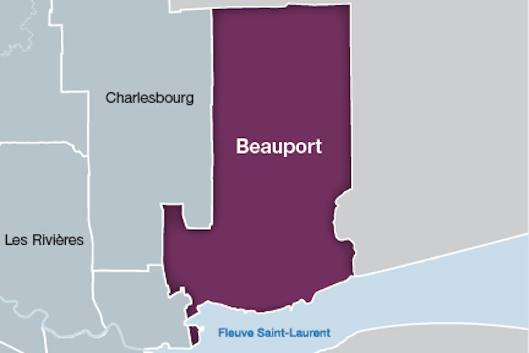 Carte arrondissement de Beauport