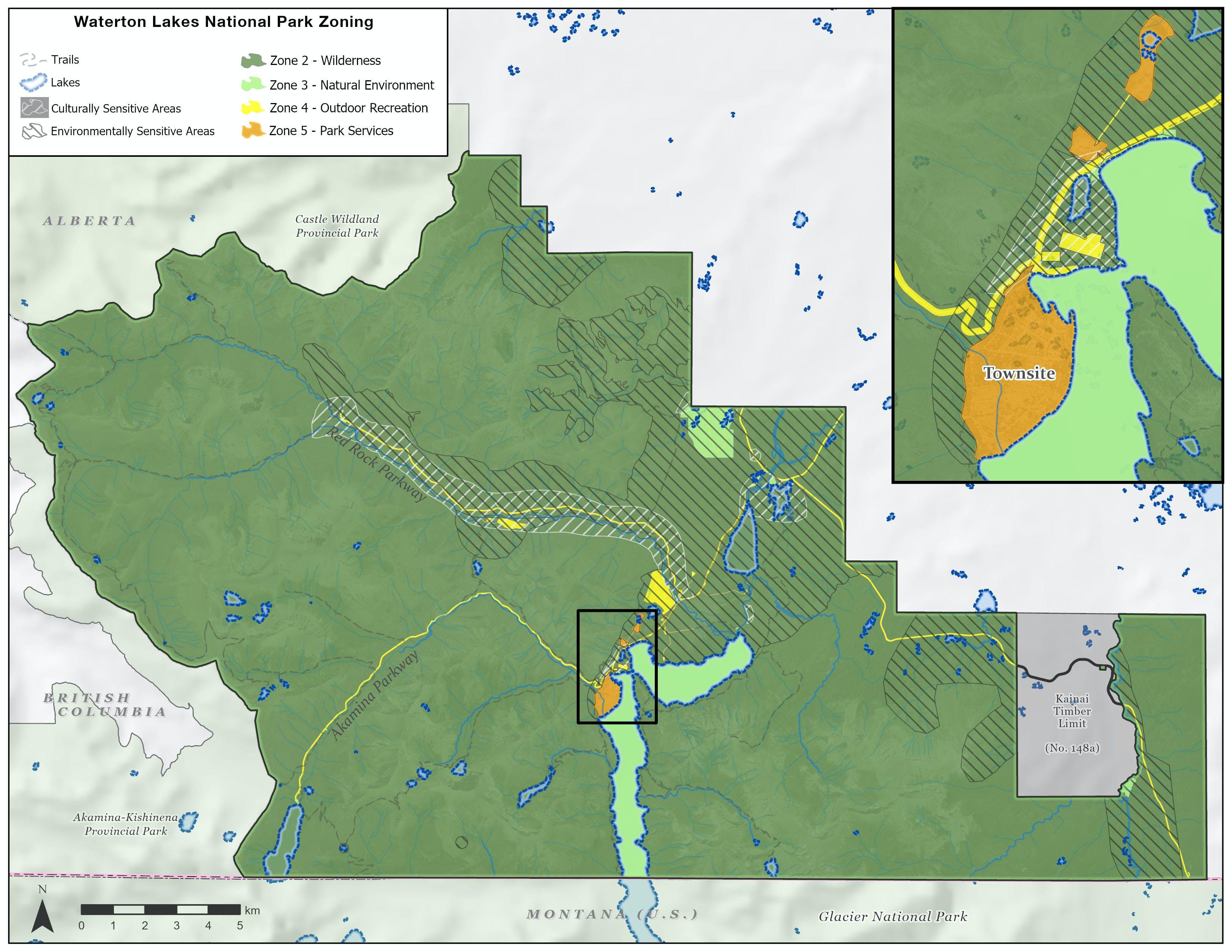 Waterton Lakes National Park Zoning