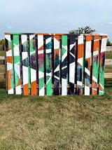 Painted fence by Shaima Hasan