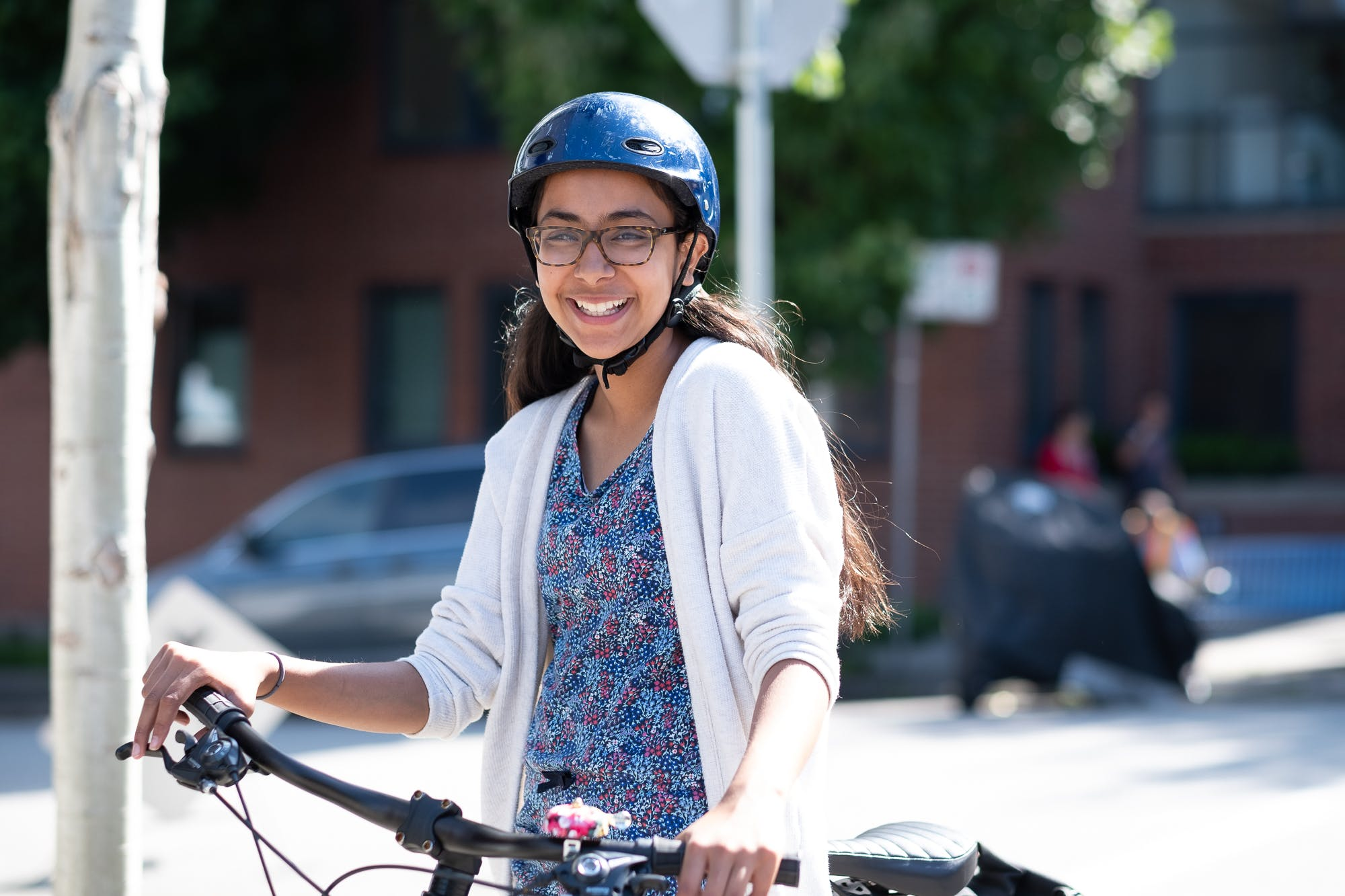 Cycling on Alexander Street