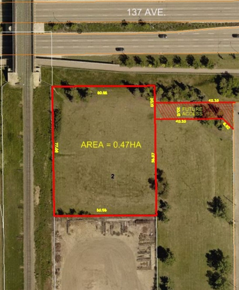 Site map of the proposed development at 14125 137 Avenue NW.