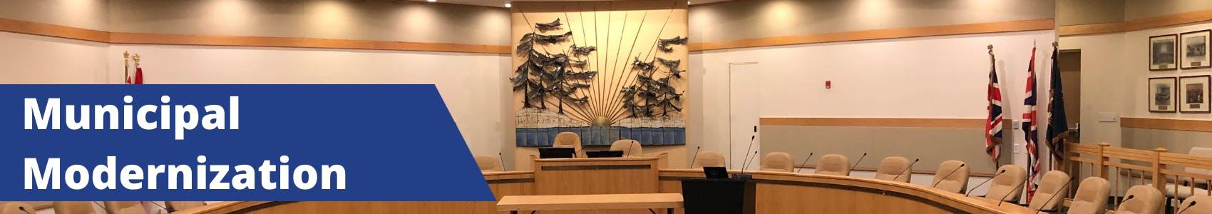 District Municipality of Muskoka's council chambers