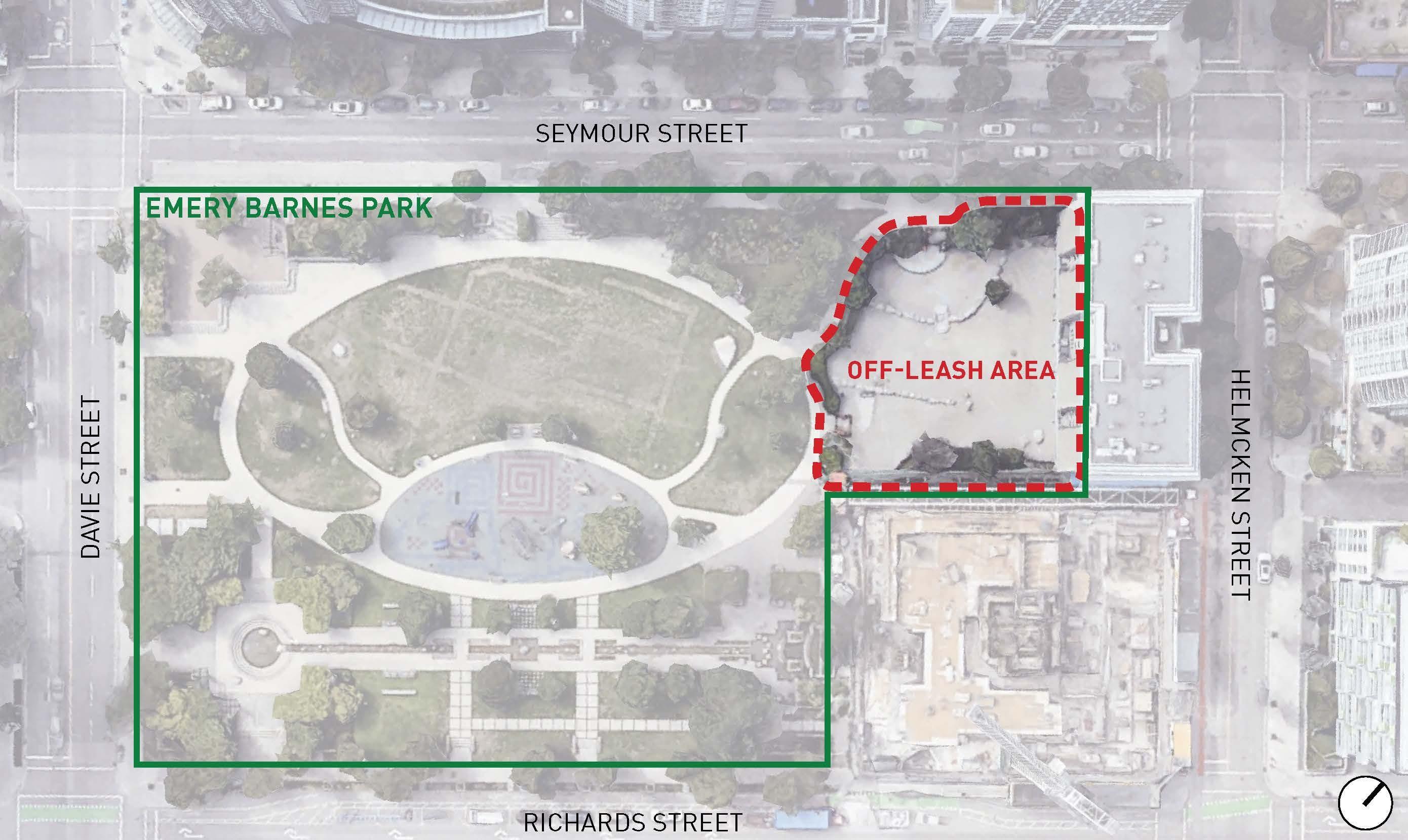 Emery Barnes Park - site plan