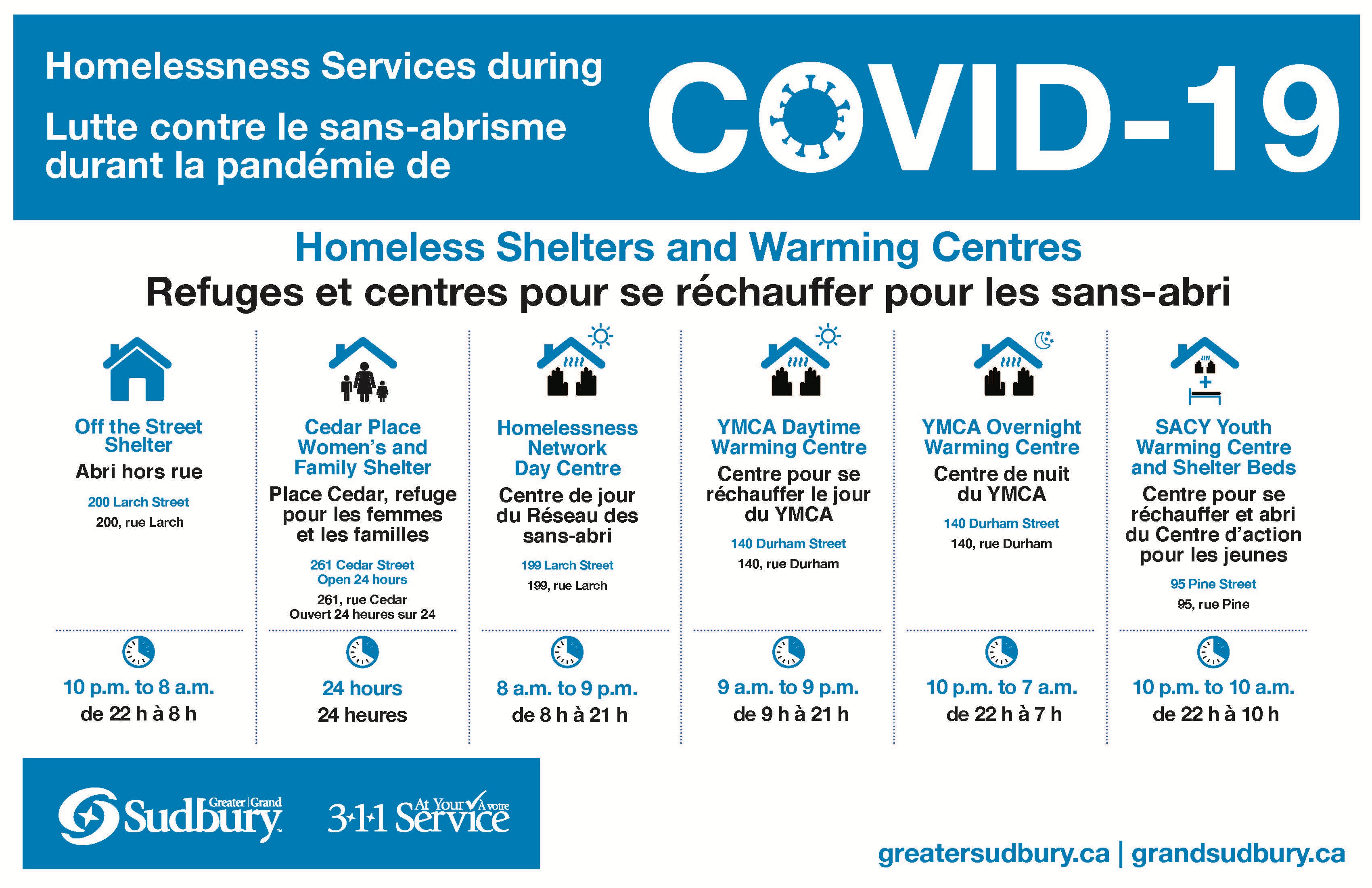 Shelters and Warming Centres