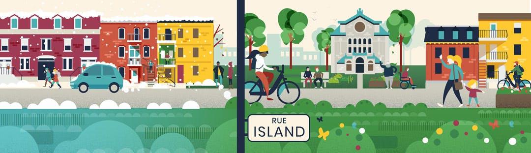 Réaménagement de la rue Island