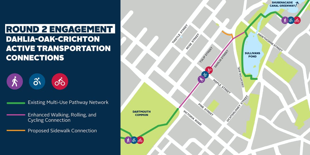 Dahlia-Oak-Crichton Active Transportation Connections