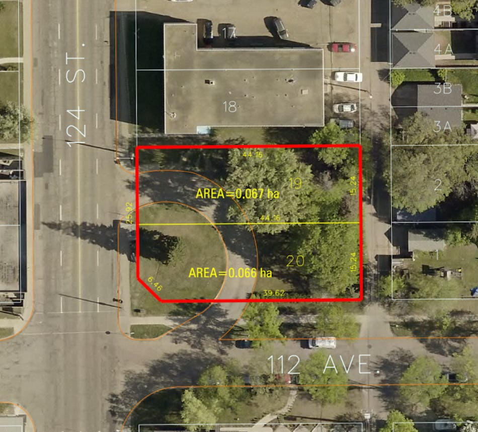Site map of the proposed development at 12312 112 Avenue NW.
