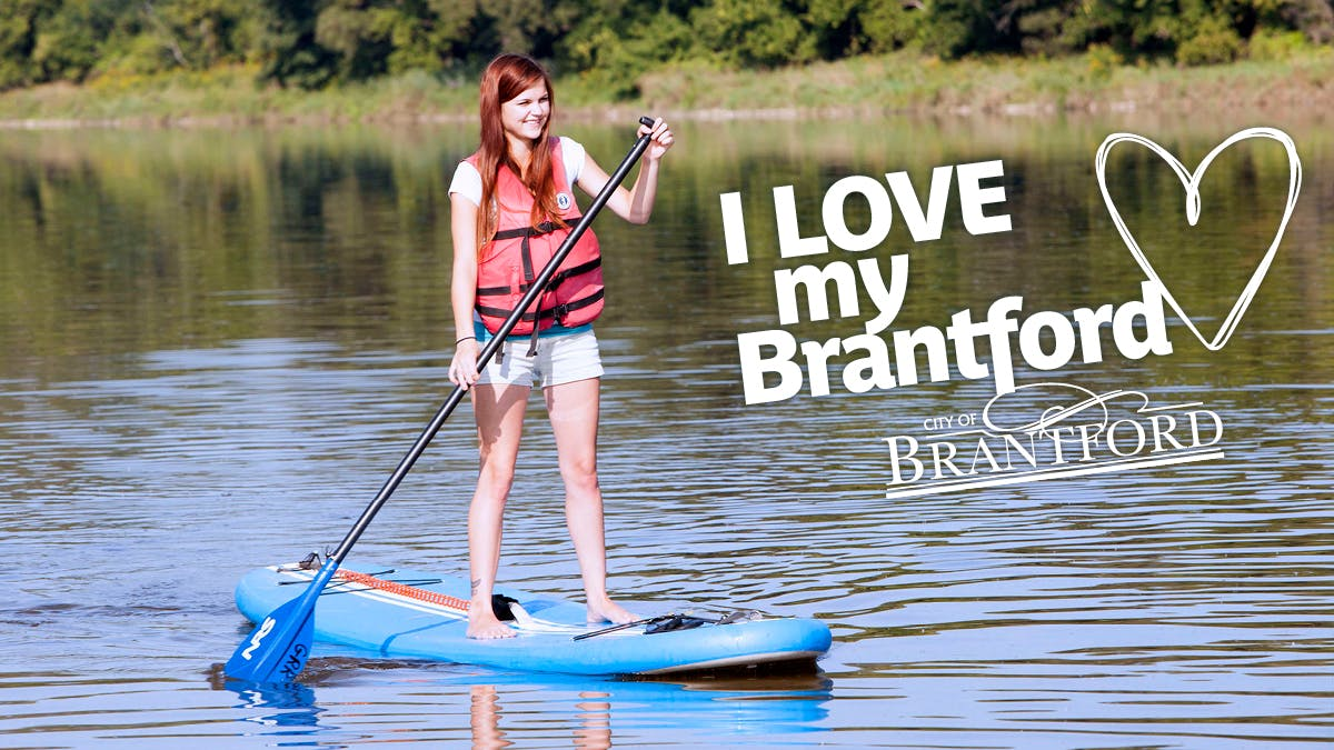 Stand Up Paddling on the Grand River