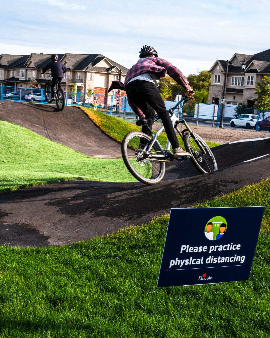 Lincoln residents enjoy the pump track