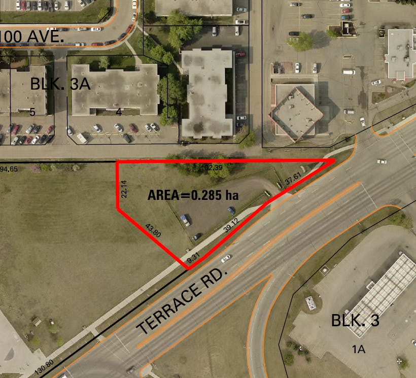 Site map of the proposed development at 6503 101 Avenue NW.