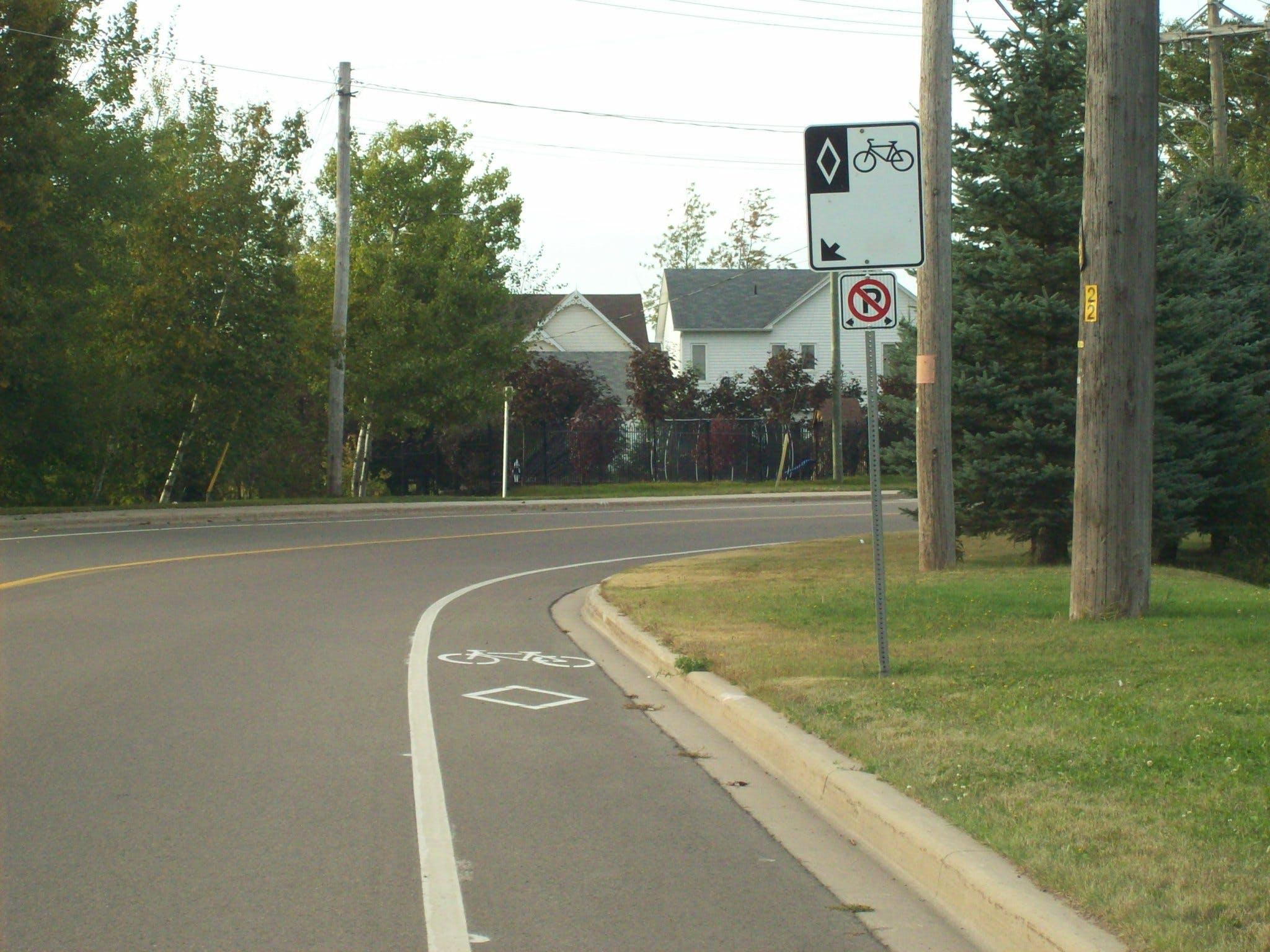 Bike lane - Ryan Street