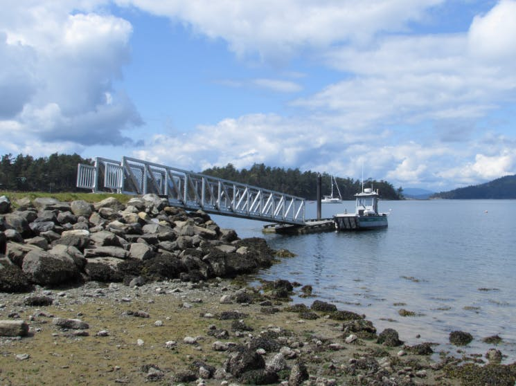 Parks Canada dock at Winter Cove, Saturna Island