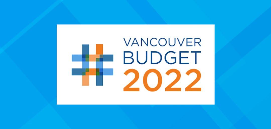 Vancouver Budget 2022 brand