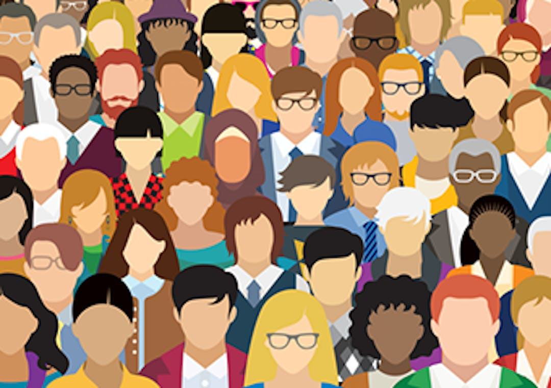Illustration of an ethnically diverse group of people