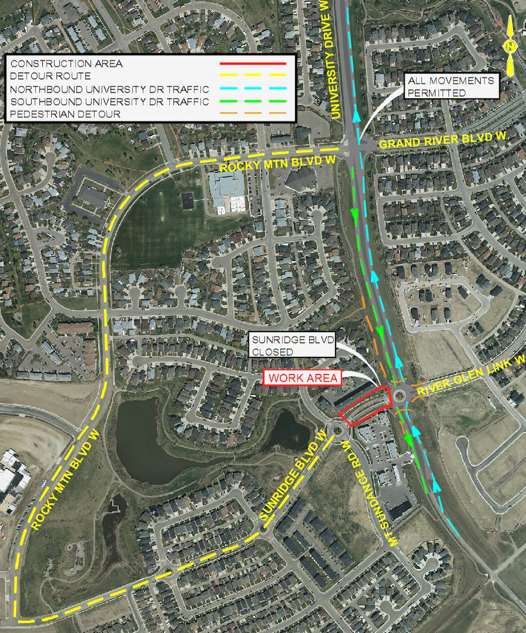 2019 construction coming to an end on University Drive Twinning