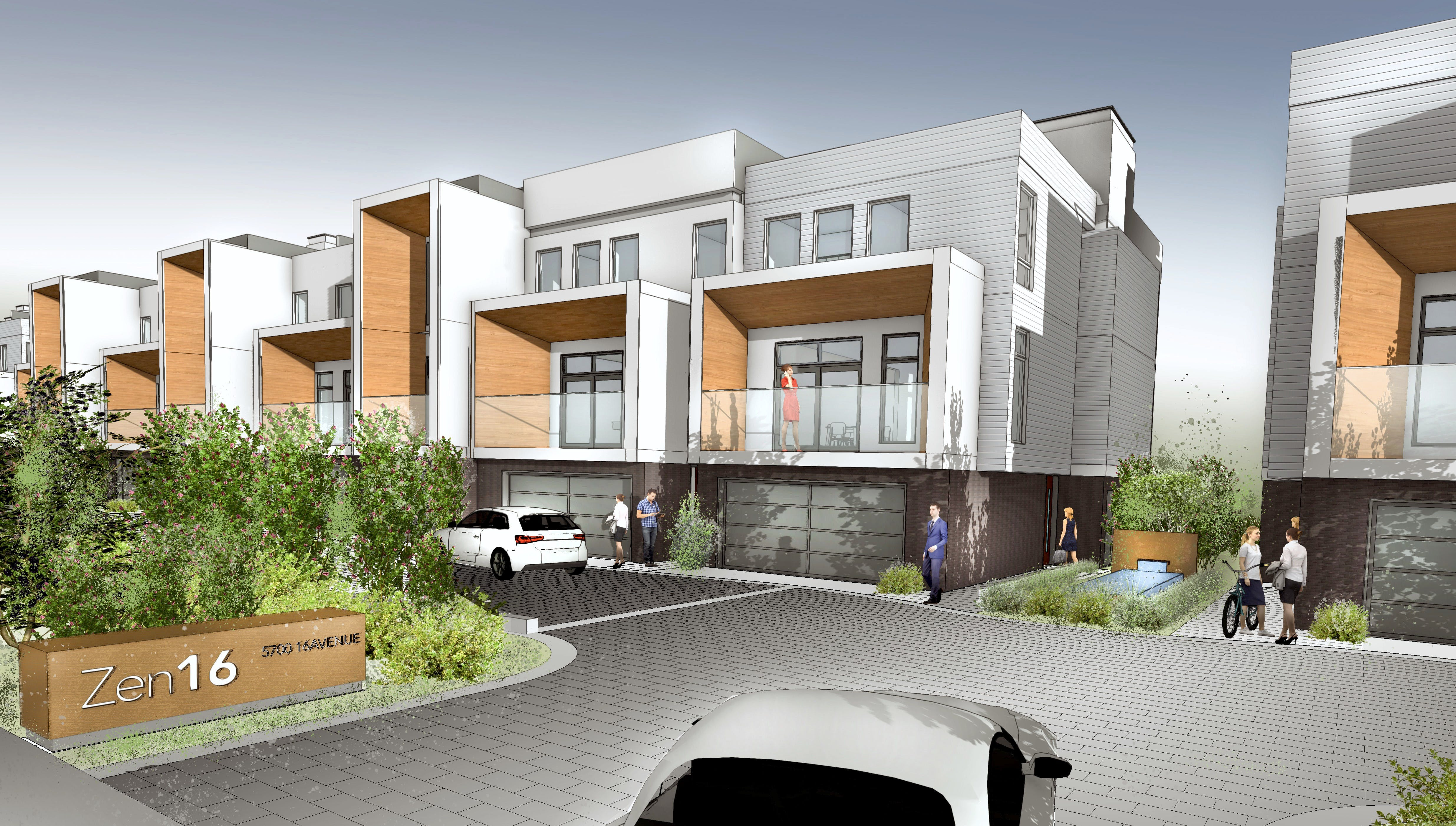Rendering from 16 Avenue (North)