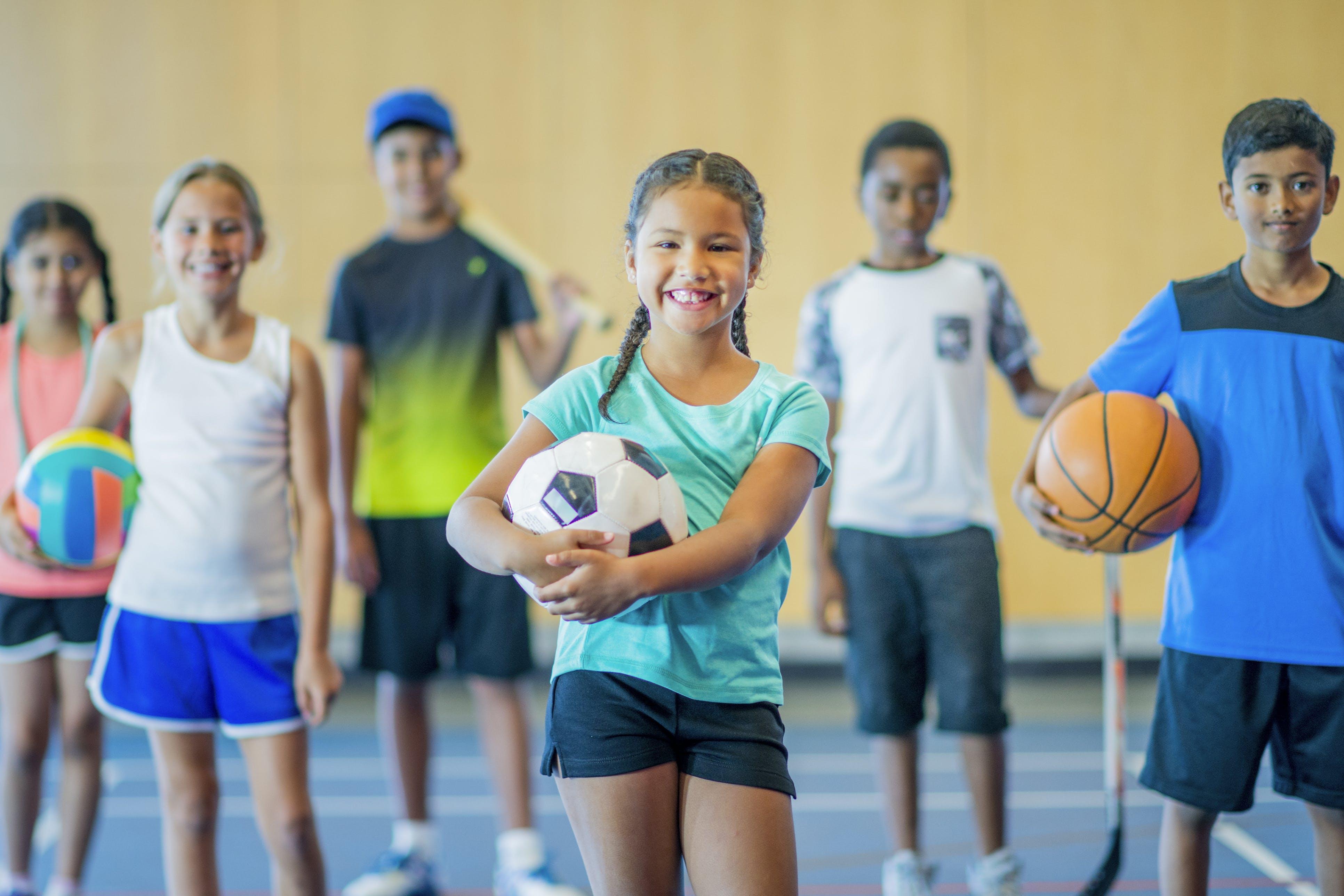 Kids happy to play sports