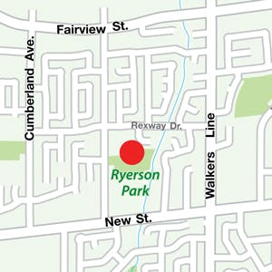 Map of Ryerson Park