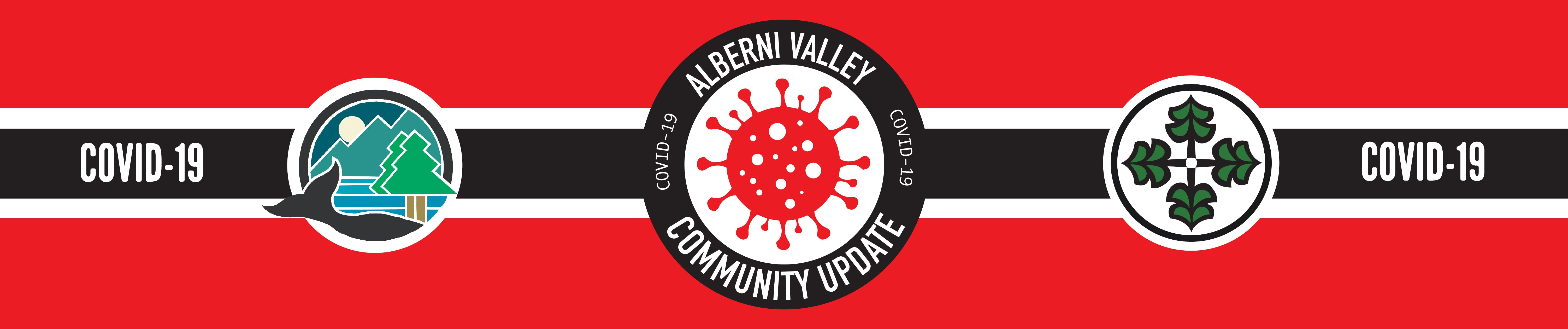 Joint banner City and ACRD of Alberni Valley COVID-19 response