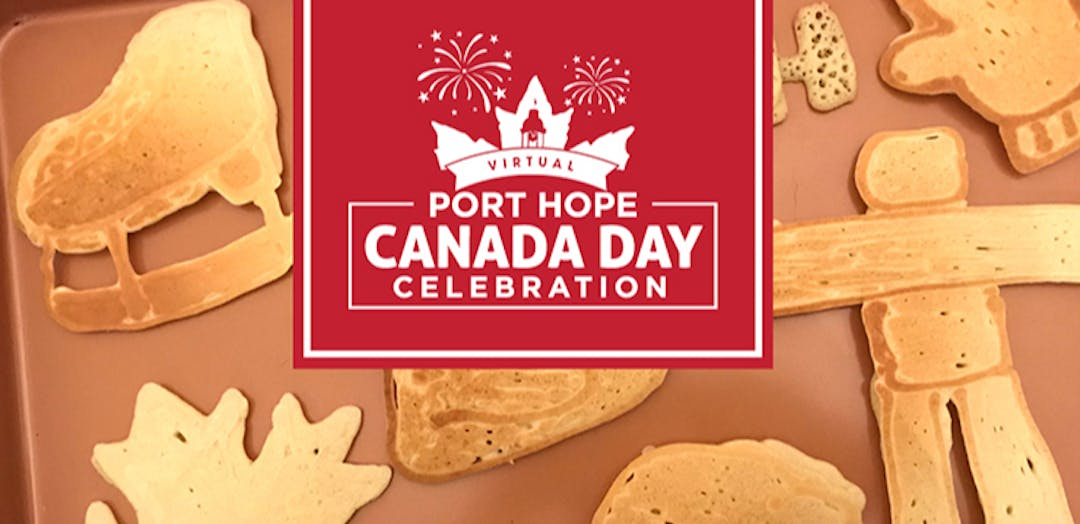 Pancakes with Port Hope Canada Day Logo