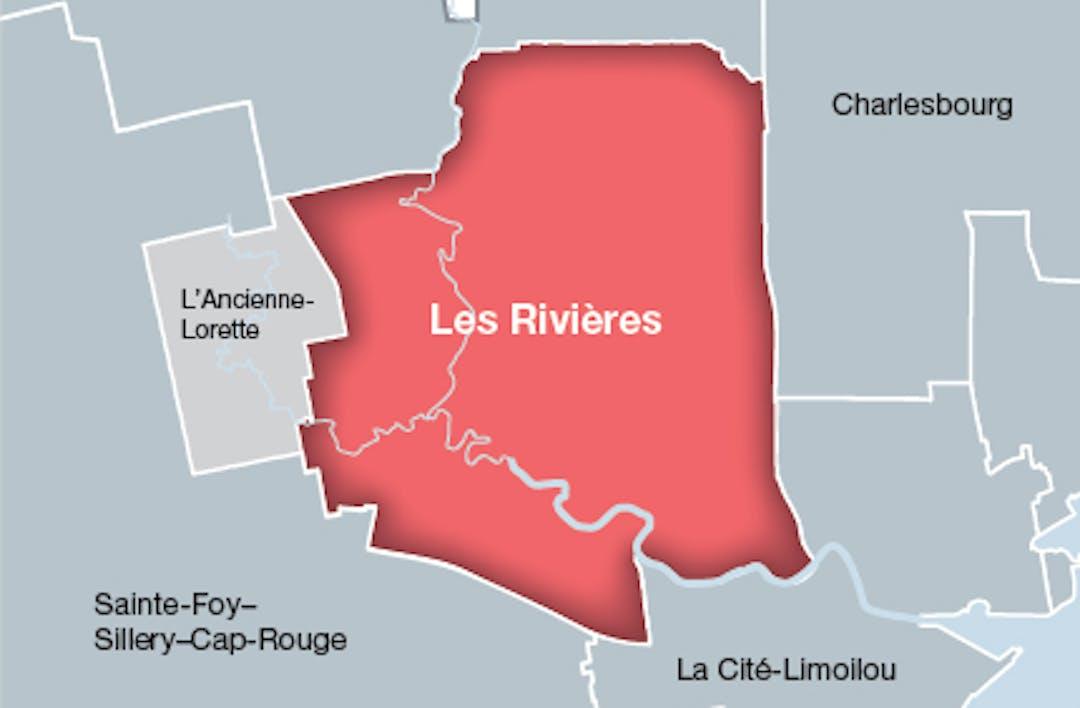 Carte arrondissement des rivières